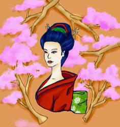 Geisha by Thewolfmoon10