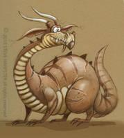 Fat Happy Dragon by sharpie99