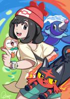 Pokemon Sun and Moon fan art by drk2cl