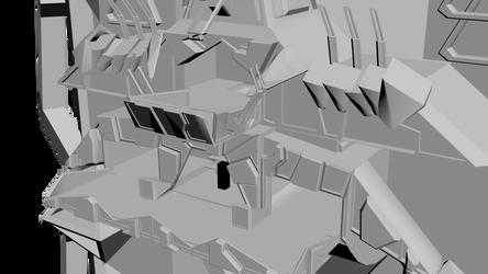 Skyscraper - Outside Complete - Closeup by Conor3DDesign