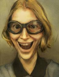Watercolor self-portrait by Zirngibl