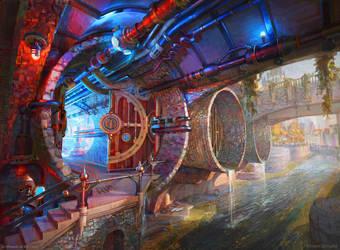 Izze Guildgate - Secret Entrance by Zirngibl