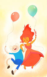 Finn and the Flame Princess by Guiltiest-Sparks