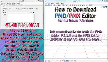 How to DOWNLOAD PMD/PMX Editor by Akiiza-sama