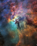 Hubble's 28th birthday picture: The Lagoon Nebula by Earth-Hart