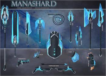 Manashard Weapon Set by JNetRocks