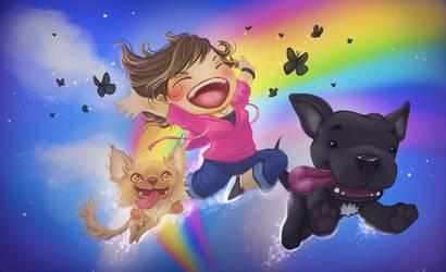 Joy, Thy Name is Dog by JNetRocks