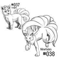 PKMN-A-DAY: Kitsunes by the-b3ing