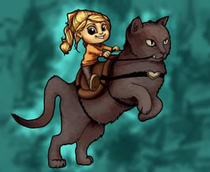 Kitty Rider by HeatherBomb