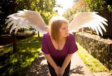 Giant felt wings by HeatherBomb