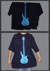 Hand-painted T-shirt - guitar by AlexIlieva