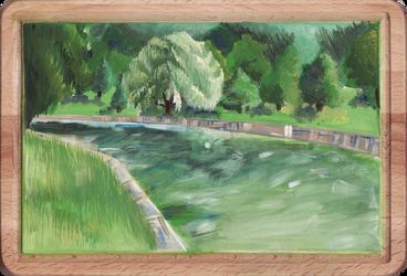 Landscape With Tempera Paints by AlexIlieva