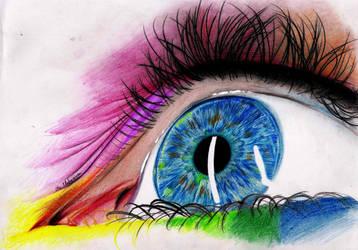 Rainbow Iris by MarouliLumen