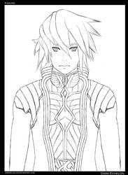 Karuma Line Art by DarkEchelon