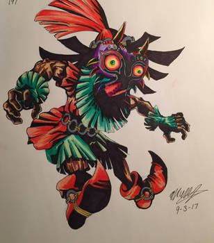 Skull kid- LoZ majoras mask (Colored) by ansem-the-dead