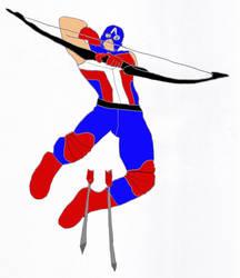 Clint Barton as Captain America by UncannyX-Factor