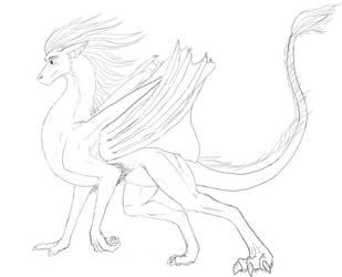 Random Furry Dragon -- lex4art by draekards