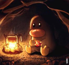 Pokemon Fanart - Diglett by yiyang1989