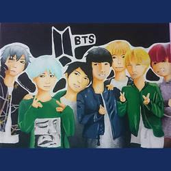 BTS fanart request by AsuchiiMeowMeow