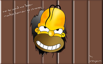 no tv and no beer makes homer by royam