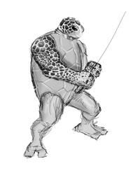 Teenage Mutant Ninja Turtle Redesign: Leonardo WIP by Bonzulac