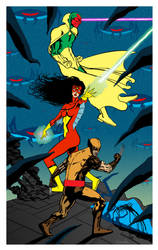 Bonus Pin-up: The Avengers! by Bonzulac
