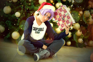 Future Trunks merry christmas by Caydance