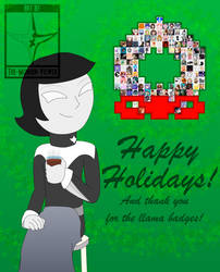 Generous Llama Badgers Holiday Card by The-Mobian-Viewer