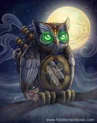 Steampunk Owl by Hidden-Rainbows