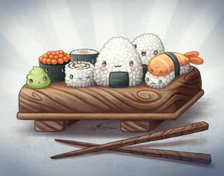 Sushi by Hidden-Rainbows