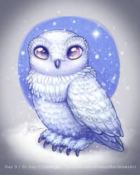 Snowy Owl - Day 3 by Hidden-Rainbows