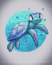 Sea Turtle - Day 4 by Hidden-Rainbows
