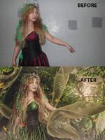 Forest Nymph - BTS by ArtNinjaPH