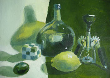 Drinking and Drawing Game in Green by KaterinARTadenev
