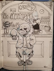 Evening at Grillby's by Jak22099