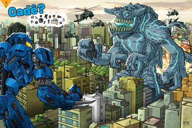 Where Robo vs monster Marine by Adrean-BC