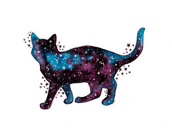 Cosmic cat by stardixa