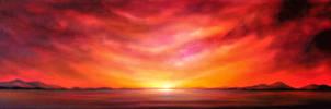 Panoramic Seascape II. by Rayvenjan