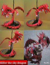 Slifer the Sky Dragon papercraft by Emiliaputri