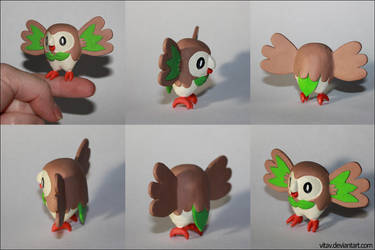 Rowlet sculpture by vitav