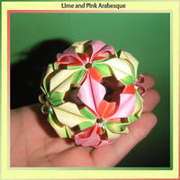 Lime and Pink Arabeque by MastaAzumarek