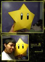 Origami Mario Star by MastaAzumarek