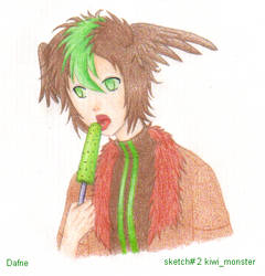 Sketch 2 kiwi monster by DafNyanko