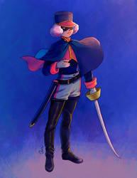 Swordmaster-sketch commission for BrossUno by anakareninart