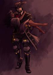 McCree monster hunter and Sombra by anakareninart