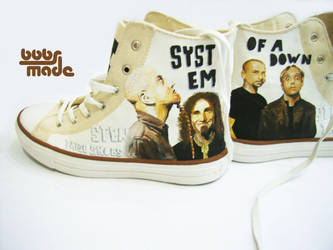 System of a down- shoes by Bobsmade