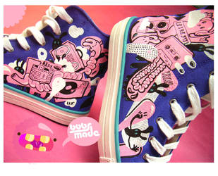 purple music shoes by Bobsmade