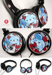 Seals and Apples headphones by Bobsmade