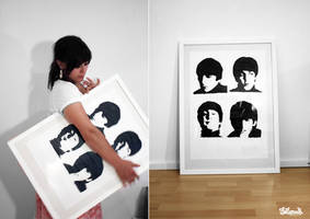Beatles Screenprint by Bobsmade