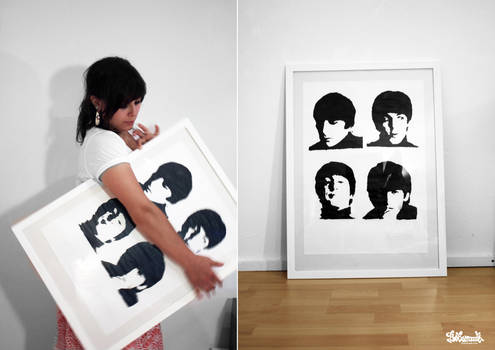 Beatles Screenprint by Bobsmade
